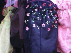 带有花朵的可爱护袖