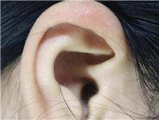 美女五官之耳朵特写