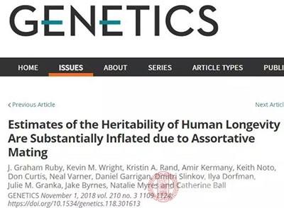 基因对寿命的影响已远低于过去的预估