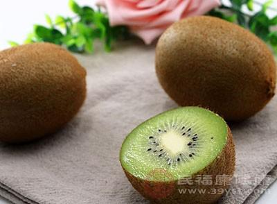 奇异果也就是猕猴桃,其中含有蛋白水解酶、猕猴桃碱