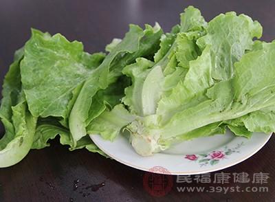 生菜中含有甘露醇等有效成分,有利尿和促进血液循环的作用