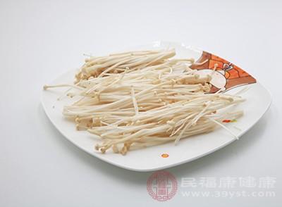 金针菇菌干中含有一种糖蛋白具有有抗菌消炎作用