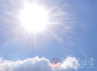 古人把阳气比作天空与太阳的关系