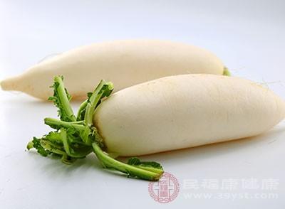 白蘿卜含維生素C及消化酵素
