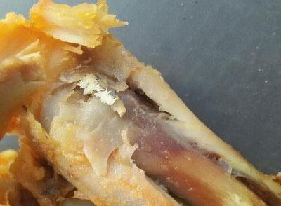 恶心 陕西安康德克士餐厅鸡腿中竟吃出蛆卵