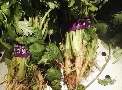 香菜(150克)、花生米(80克)