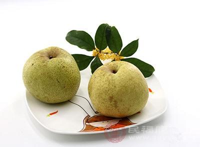 梨子含有木质素,是一种不可溶纤维