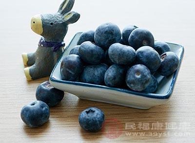 直接将蓝莓与凉开水放进果汁机