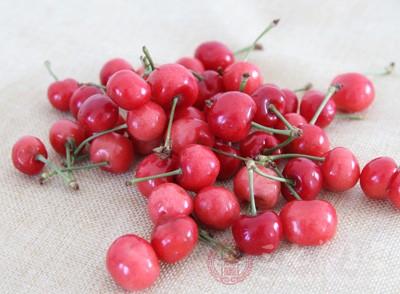 樱桃含铁量高,每百克樱桃中含铁量多达5.9毫克