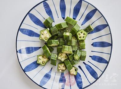 黄秋葵的粘性物质中含有50%纤维素有利通便、排毒、防癌