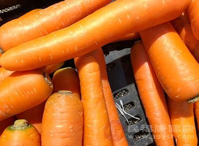 胡萝卜含维生素B,对眼睛有好处