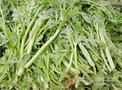 茼蒿的茎叶是可以一起食用的