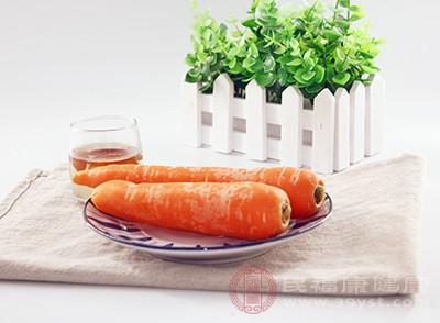 胡萝卜中含有丰富的胡萝卜素