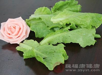 生菜中含有丰富的膳食纤维