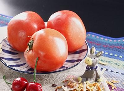 西红柿含有大量的番茄红素