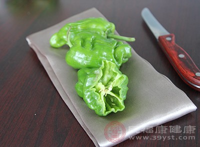 青椒含有大量的叶绿素