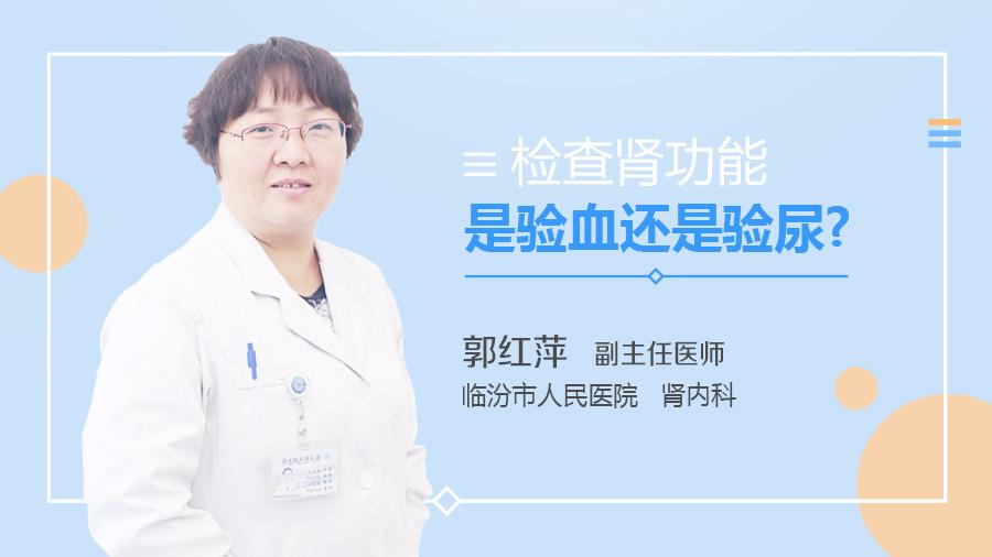 检查肾功能是验血还是验尿