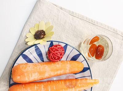 胡萝卜含有维生素E和维生素A