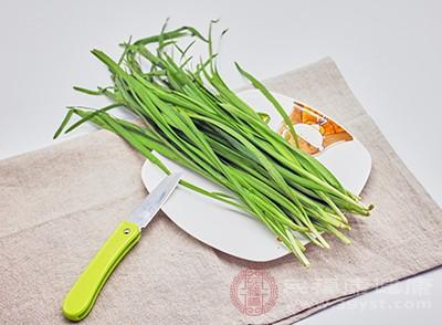 韭菜具有刺激食欲的作用