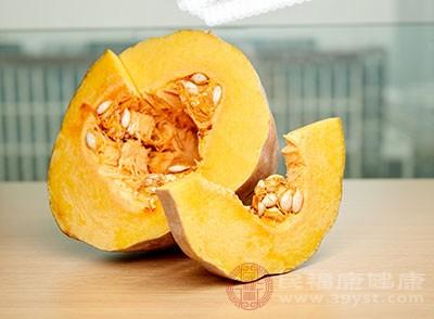 南瓜中含有豐富的維生素和果膠