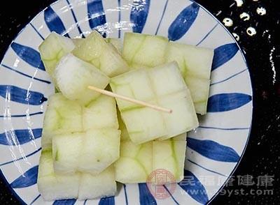 冬瓜中的膳食纖維含量很高