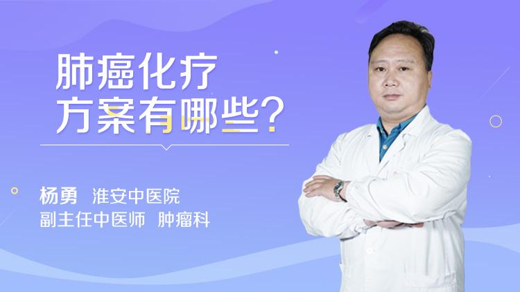 肺癌化疗方案有哪些