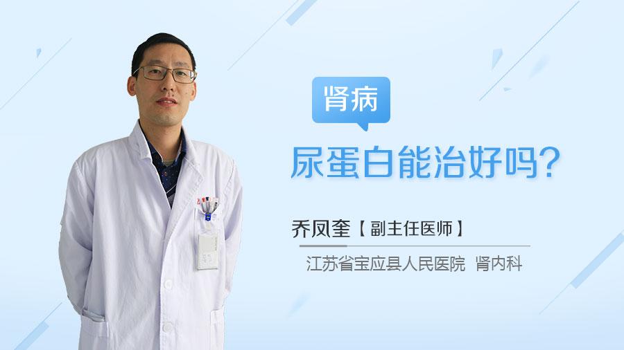 肾病尿蛋白能治好吗
