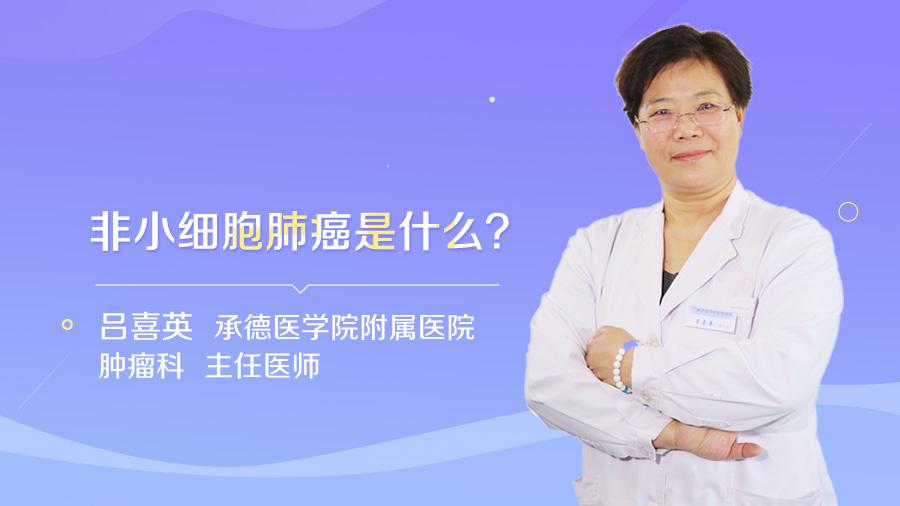 非小细胞肺癌是什么