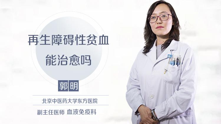 再生障碍性贫血能治愈吗