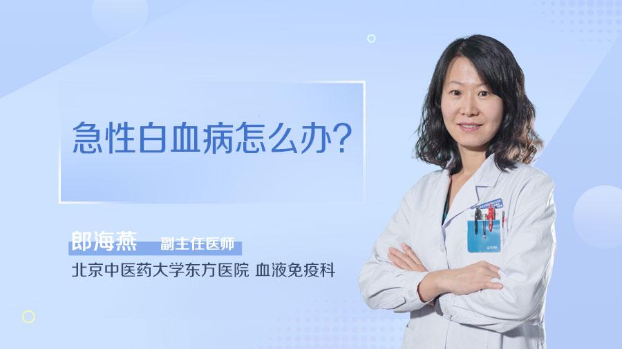 急性白血病怎么办