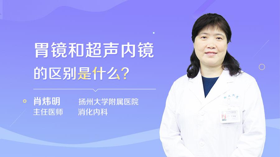 胃镜和超声内镜的区别是什么